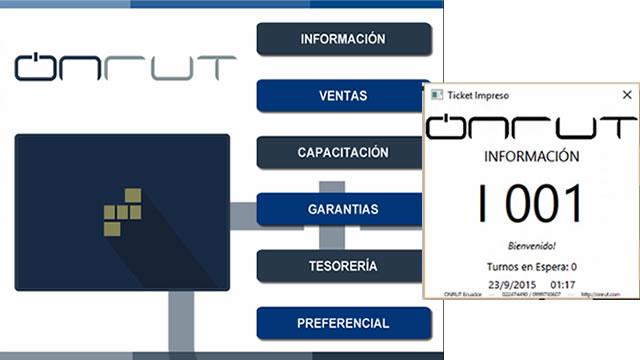 Sistema ONRUT Turnos - Emisor Tickets