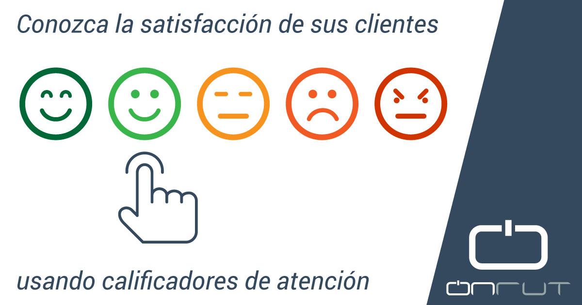 satisfacción clientes calificadores de atención